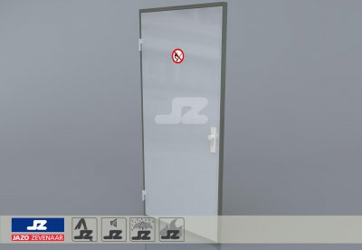 Alu P-frame single door Gas cupboard
