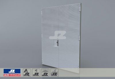 Aluminium HS-27 dubbele deur