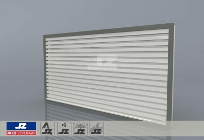 HS-27R wall louver front mounting