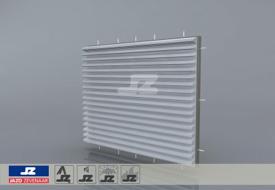 HJ-55 fire resistant build-up louver