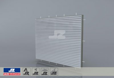 HS-27 fire resistant build-up louver