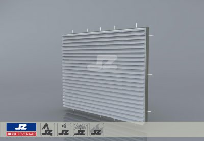 HS-42 fire resistant build-up louver