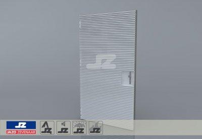 Staal CF-kozijn+enkele deur+HS-27 opb.rst. EW120 EN1634-1