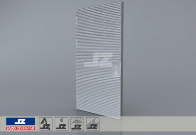 Type P aluminum door 1256x2570 up to 400 kVA L