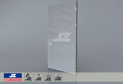 Type P aluminum door 1256x2570 up to 400 kVA R